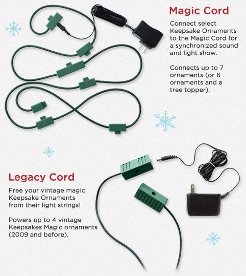 Hallmark Keepsake Magic Cord ~ Powers Ornaments from 2010 and Later