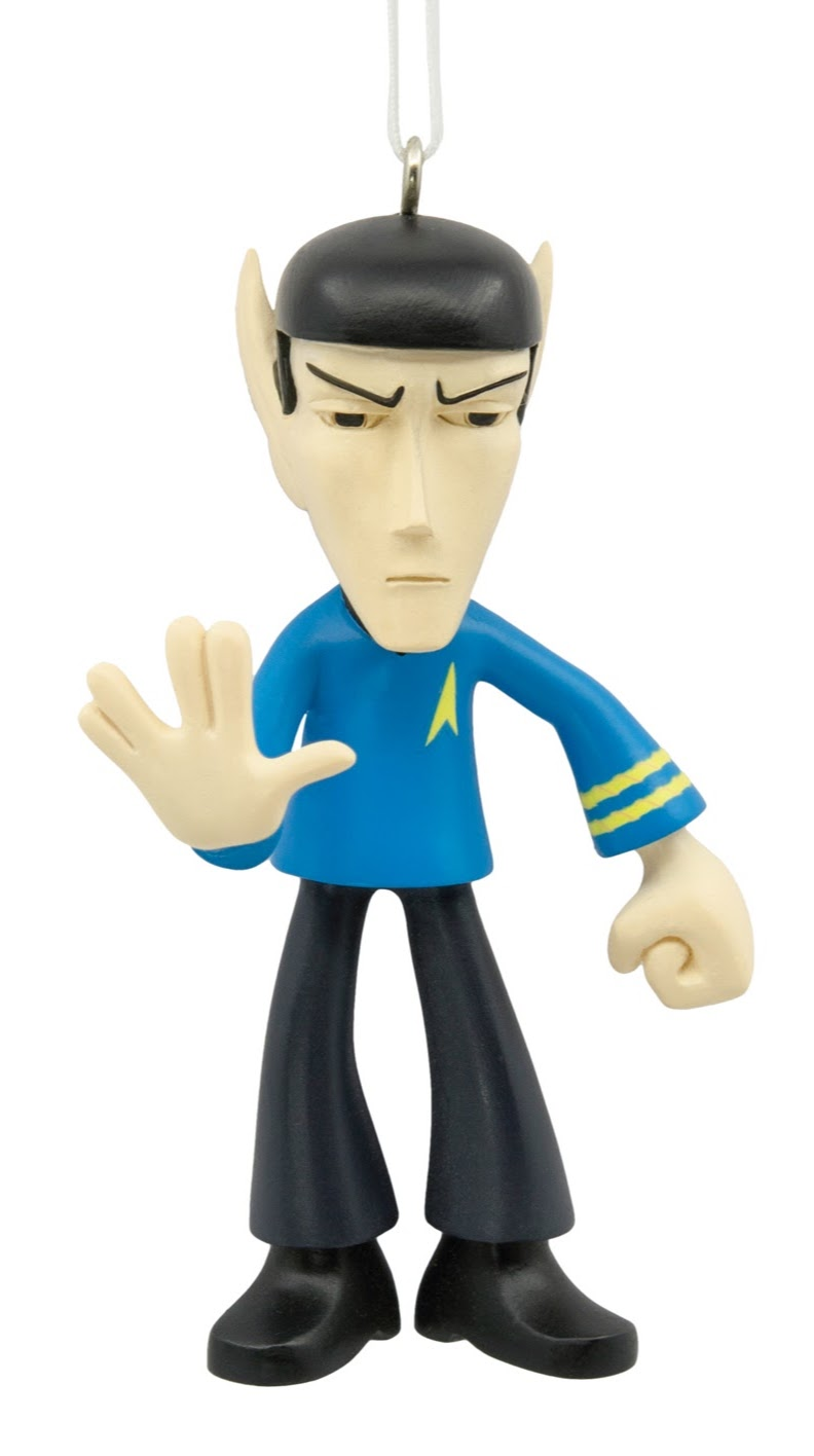 2017 Hallmark Christmas Tree Ornament Featuring A Likeness Of Mr. Spock  From Star Trek U2013 The Original Series. This Ornament Is Made Out Of Resin  And Comes ...